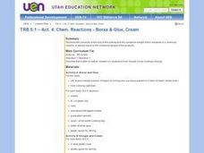 Chemical Reactions - Borax & Glue, Cream Lesson Plan