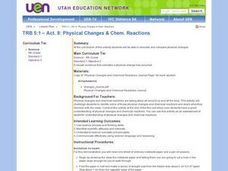 Physical Changes & Chemical Reactions Lesson Plan