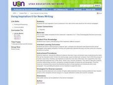 Using Inspiration 6 for News Writing Lesson Plan