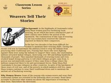 Weavers Tell Their Stories Lesson Plan