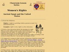 Women's Rights Ancient Egypt and the United States Lesson Plan