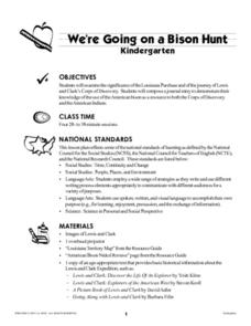 We're Going on a Bison Hunt Lesson Plan