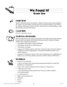 We Found It! Lesson Plan