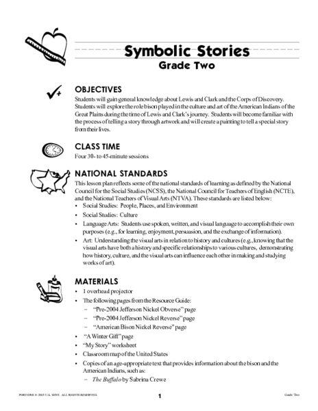 Symbolic Stories Lesson Plan