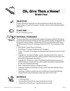 Oh, Give Them a Home! Lesson Plan