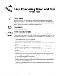 Like Comparing Bison and Fish Lesson Plan