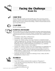 Facing the Challenge Lesson Plan