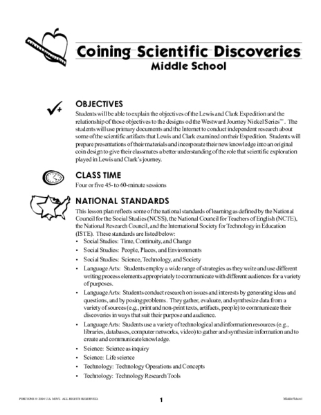 Coining Scientific Discoveries Lesson Plan