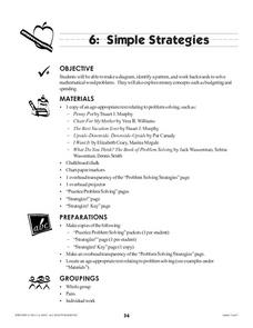 Simple Strategies Lesson Plan