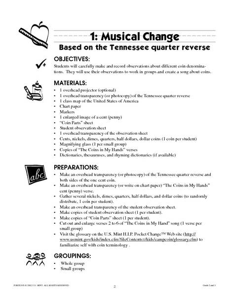 Musical Change Lesson Plan