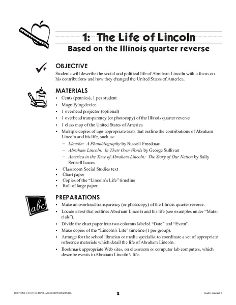 Life of Lincoln Lesson Plan