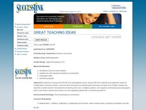 You Can Bank On It! Lesson Plan