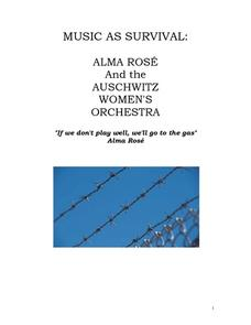 Music As Survival: Alma Rose and the Auschwitz Women's Orchestra Lesson Plan