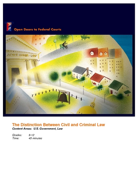 Civil and Criminal Law Lesson Plan