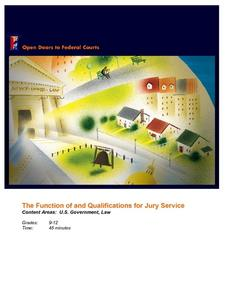 The Function of and Qualifications for Jury Service Lesson Plan