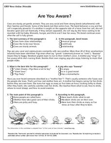 Are You Aware? Lesson Plan