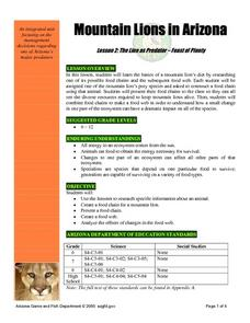 Mountain Lions in Arizona Lesson 2: The Lion as Predator - Feast of Plenty Lesson Plan