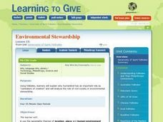 Environmental Stewardship Lesson Plan