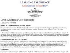 Latin American Colonial Diary Lesson Plan