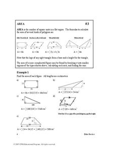 Area Worksheet
