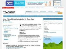 Our Friendship Chain Links Us Together Lesson Plan