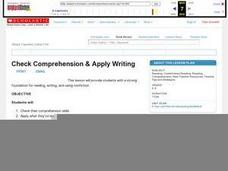 Check Comprehension and Apply Writing Lesson Plan