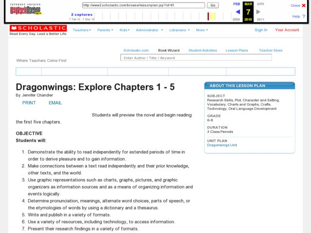 Dragonwings: Explore Chapters 1-5 Lesson Plan