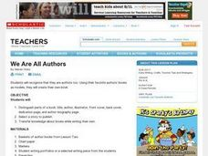 We Are All Authors Lesson Plan
