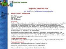 Popcorn Neutrino Lab Lesson Plan