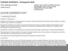 McONE Hundredth Day Lesson Plan