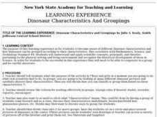 Dinosaur Characteristics and Groupings Lesson Plan