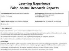 Polar Animal Research Reports Lesson Plan