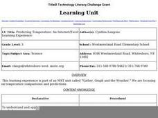 Predicting Temperature: An Internet/Excel Learning Experience Lesson Plan