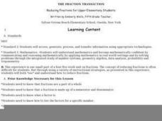 The Fraction Transaction Lesson Plan