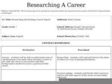 Researching and Writing a Career Report Lesson Plan