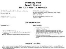 Family Search We All Came To America Lesson Plan