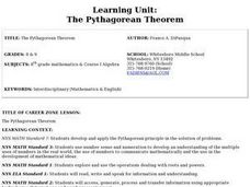 Learning Unit: The Pythagorean Theorem Lesson Plan