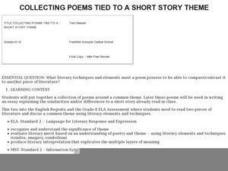Collecting Poems Tied to a Short Story Theme Lesson Plan