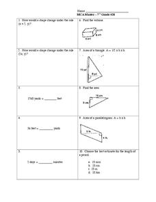 Area and Volume Lesson Plan