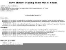 Wave Theory: Making Sense Out of Sound Lesson Plan