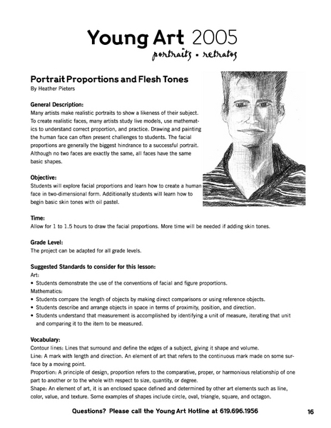 Portrait Proportions and Flesh Tones Lesson Plan