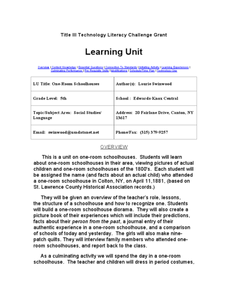 One-Room Schoolhouses Lesson Plan