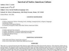 Survival of Native American Culture Lesson Plan