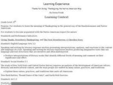 Thanksgiving the Native American Way Lesson Plan