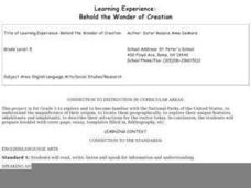 Behold the Wonder of Creation Lesson Plan