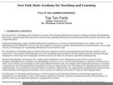 Top Ten Facts Lesson Plan
