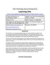 Make it Snow Lesson Plan