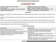 States Research Project Lesson Plan