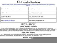 Analysis of Theme in Impressionist writing Lesson Plan