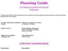 Black Boy By Richard Wright Lesson Plan